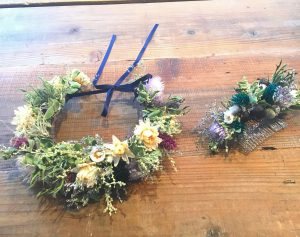 花冠と花コーム